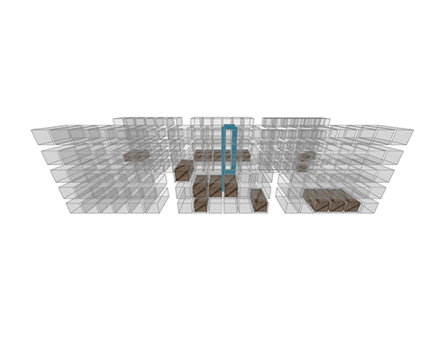 ASRS Automated Storage and Retrieval System 3D Model