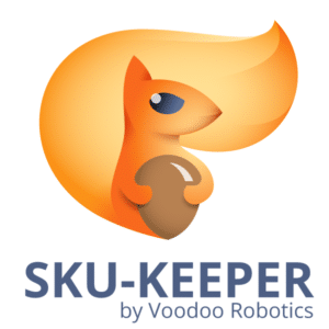 SKU-Keeper Logo with Orange Squirrel