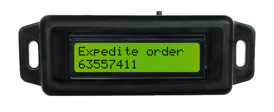 Pick-to-light devices can be used for special instructions such as expediting an order