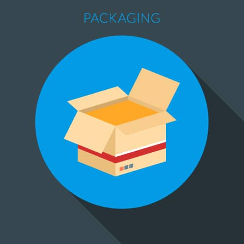 Image of a shipping box represent the importance of selecting the right box size and adequately packaging the items to be shipped.