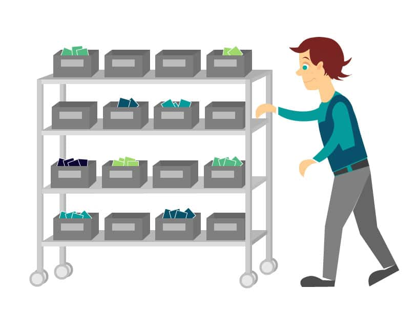Picking Cart for Batch Picking E-Commerce Orders