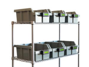 order picking cart with bins or totes