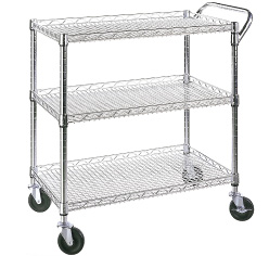 metal or wire stock picking cart