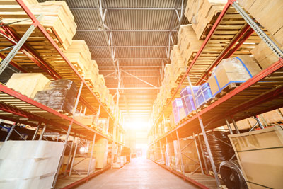 warehouse with pick to light technology