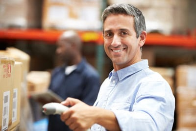 radio frequency barcode scanners for warehouse and distribution centers